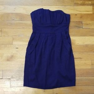 Womens mini strapless dress